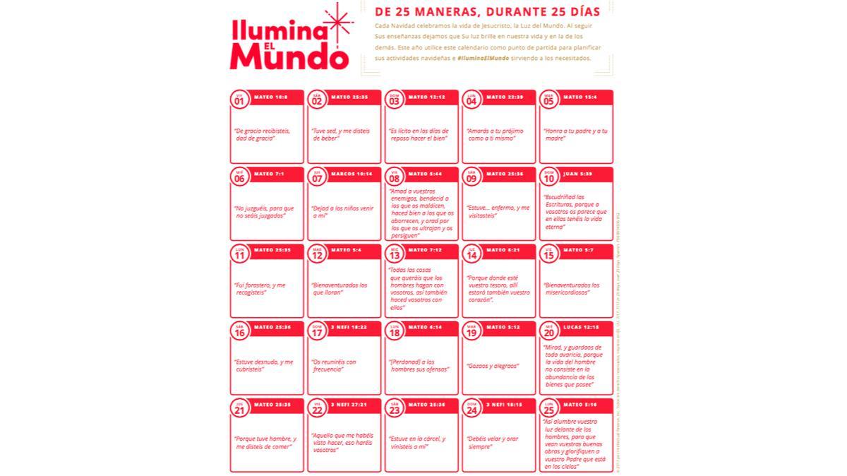 Calendario de Ilumina el Mundo