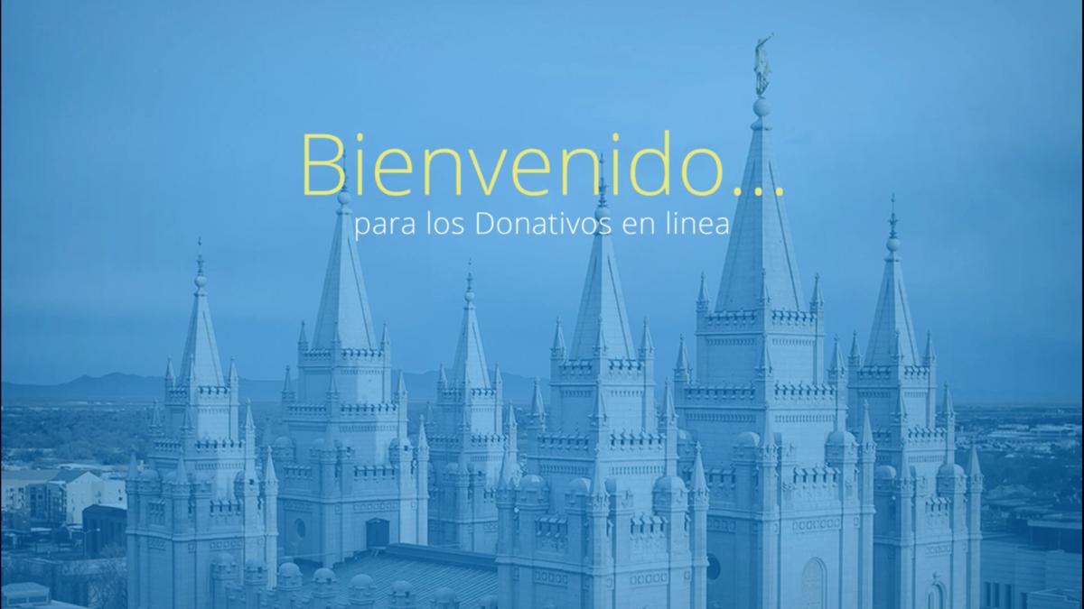 Video de instrucción sobre las donaciones en línea