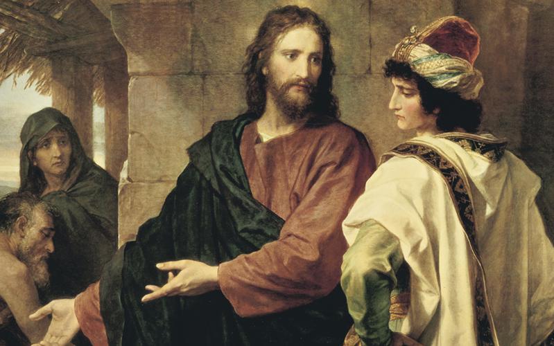 Obra de arte de Jesucristo: Jesucristo y el joven rico