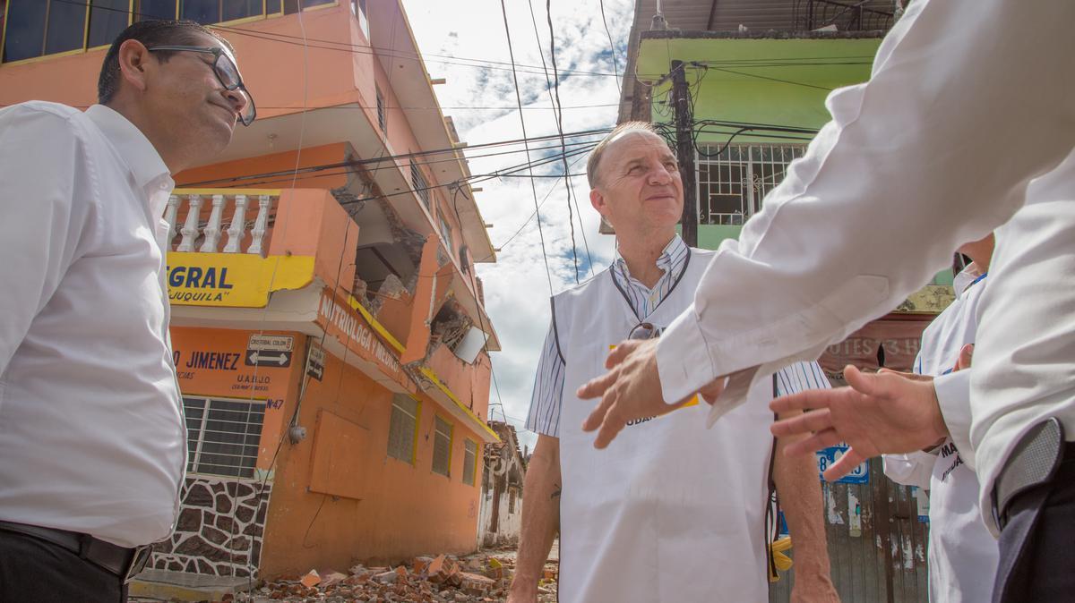 Visita a zonas dañadas