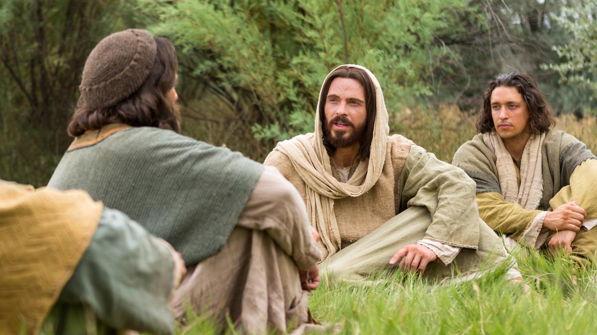 Cristo enseñando a sus discípulos