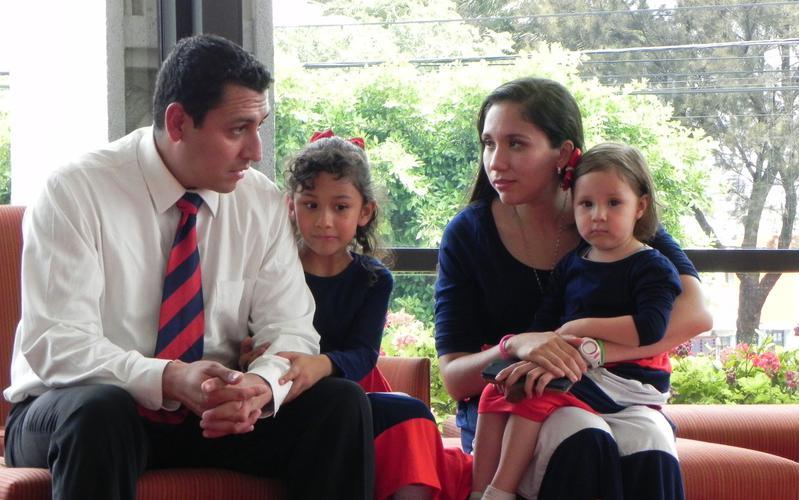 familia sentada