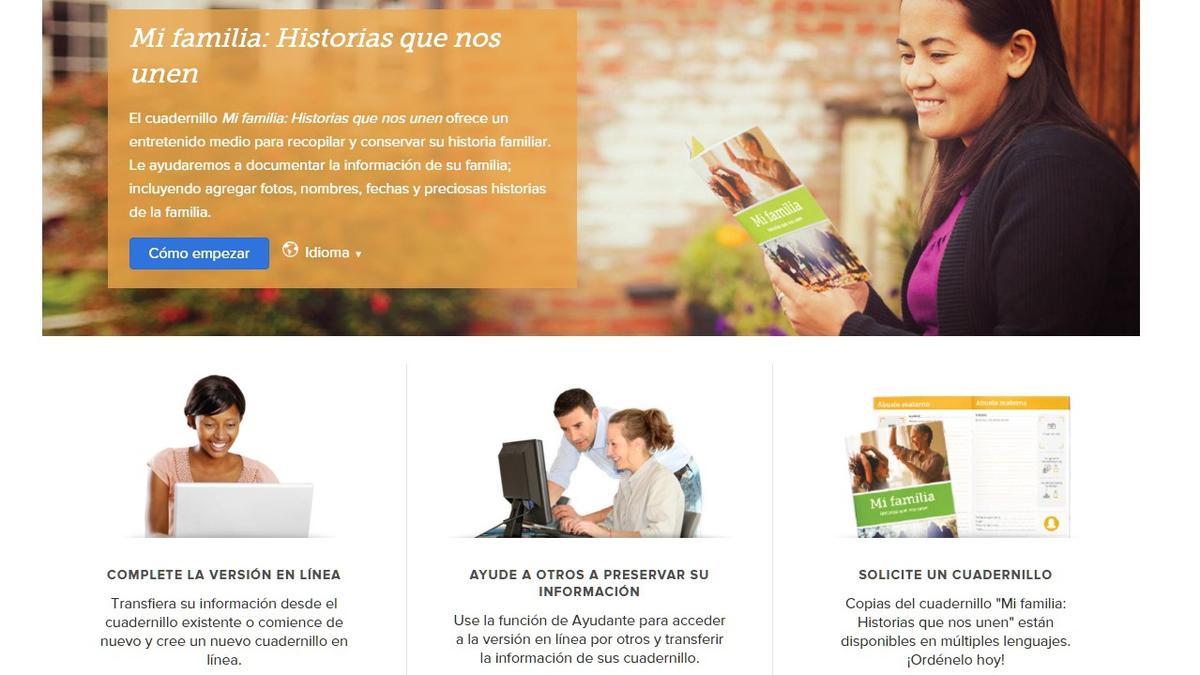 Cuadernillo 'Mi familia: Historias que nos unen' ahora en línea