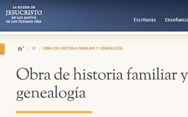 Sitio web genealogía