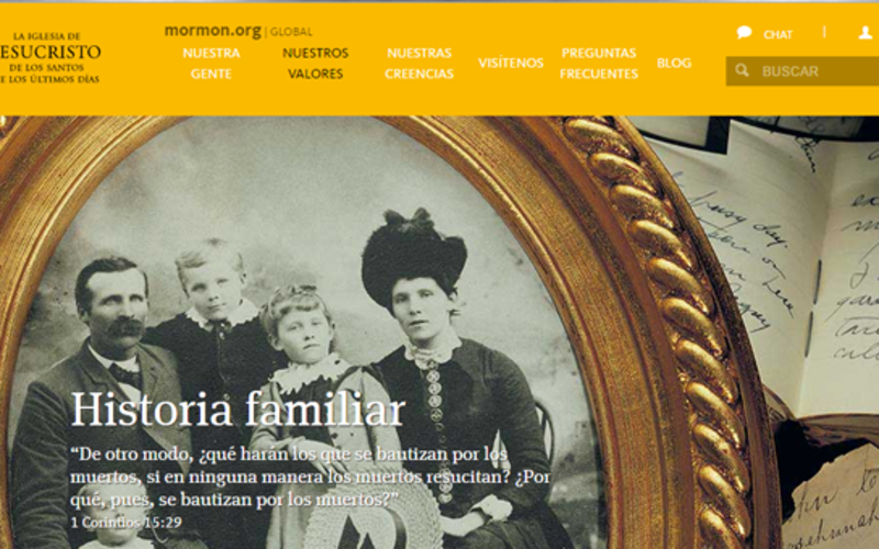 La historia familiar web