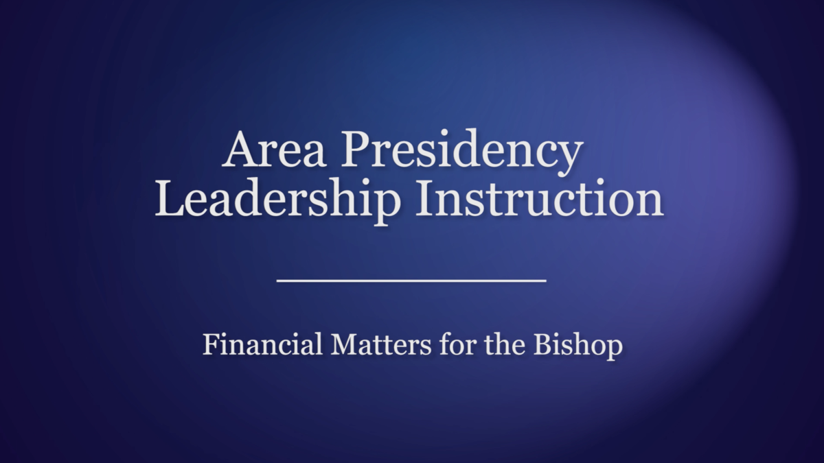 Financial Matters for the Bishop