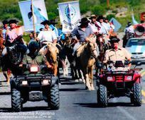 William Sill en desfile gaucho