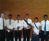 Cuatro futuros misioneros Nivaclé
