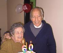 Hugo Darias y su esposa