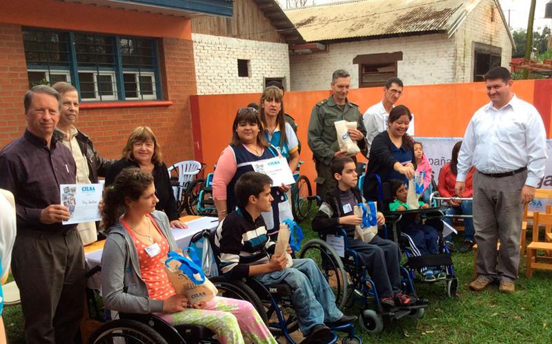 donacion silla de ruedas en misiones