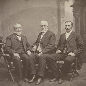 Left to right: George Q. Cannon, John Taylor, Joseph F. Smith. (Church History Library, Salt Lake City.)