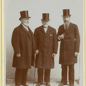 Left to right: George Q. Cannon, Wilford Woodruff, Joseph F. Smith. (Church History Library, Salt Lake City. Photograph by Sainsbury and Johnson.)