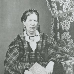 Circa 1870. Lucy Meserve Smith wrote in 1889 a reminiscence describing her 1850s Relief Society work in Provo, Utah. Photograph likely by Edward Martin. (Church History Library, Salt Lake City.)