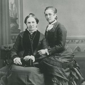 This mother and daughter are photographed here circa 1880–1890, in the approximate time period that Zina Young became general president of the Relief Society. (Church History Library, Salt Lake City.)