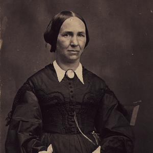 Circa 1867. Young served as the Relief Society general president from 1888 to 1901. She was also the first matron of the Salt Lake temple in 1893.