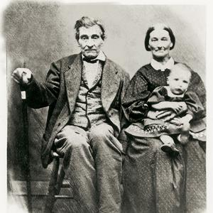 Shown with a grandchild, circa 1852. Drusilla Hendricks was an early proponent of the Relief Society. She reminisced that before the Relief Society was organized in Nauvoo, she dreamed that women were holding meetings and keeping records of their work. Hendricks joined the Nauvoo Relief Society on April 14, 1842, and was appointed to a visiting committee in the Second Ward in Nauvoo.