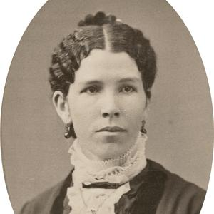 Circa 1880s. Freeze joined the Young Ladies' Mutual Improvement Association general board in 1898. She worked at the Salt Lake temple as well as the Bureau of Information on Temple Square. She also participated in the Utah Women's Press Club.