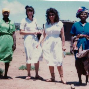 Shown as a missionary in Queenstown, South Africa, circa 1980. A native of South Africa, Brummer (pictured here, second from the right) was the first Latter-day Saint missionary fluent in the Xhosa language.