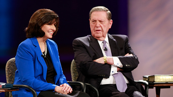 Sister Stephens and Elder Holland