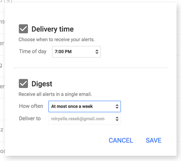 how to receive google alerts