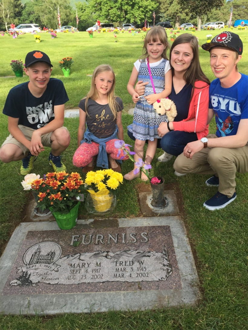 Our recent cemetery visit with some of our children. It's a tradition we all love.