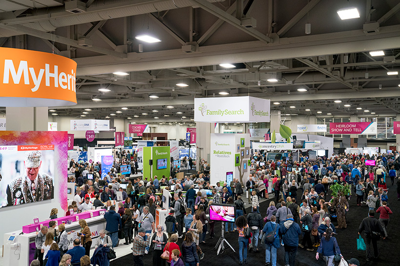 The expo hall at RootsTech
