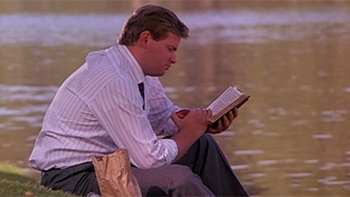 Man reading the scriptures