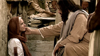 Jesus and a woman