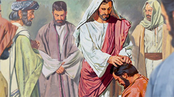 Illustration of Jesus blessing apostles