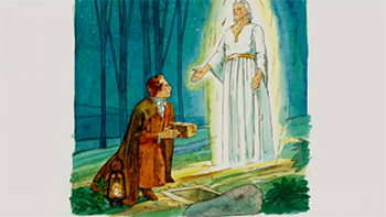 Angel Moroni talking to Joseph Smith