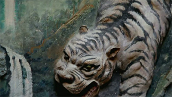 Tiger carving