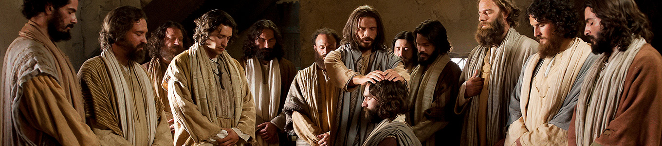 Christ blessing the apostles