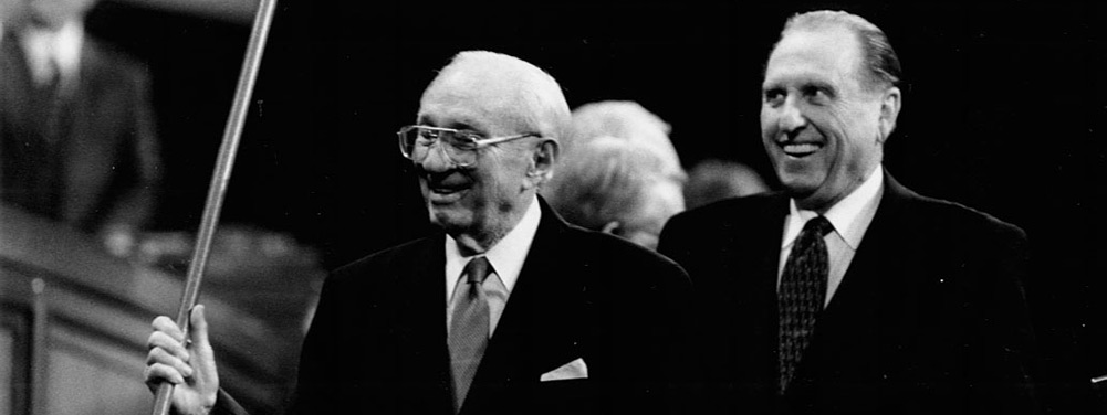 Presidents Hinckley and Monson