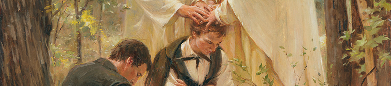 Joseph Smith receiving the priesthood