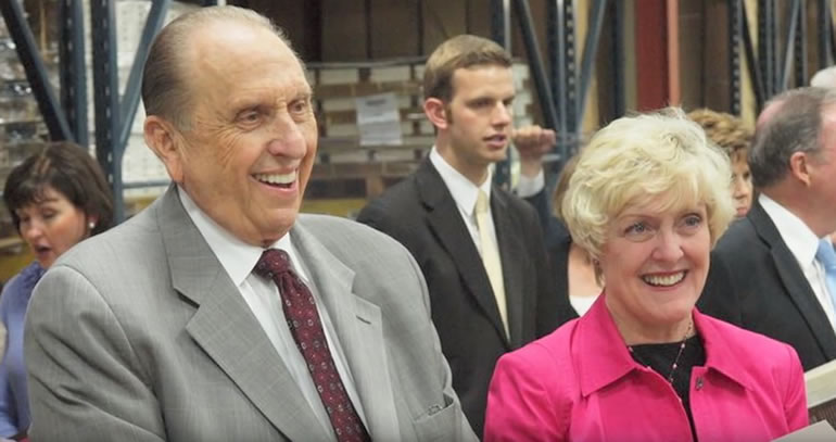 President Monson and Heidi Swinton