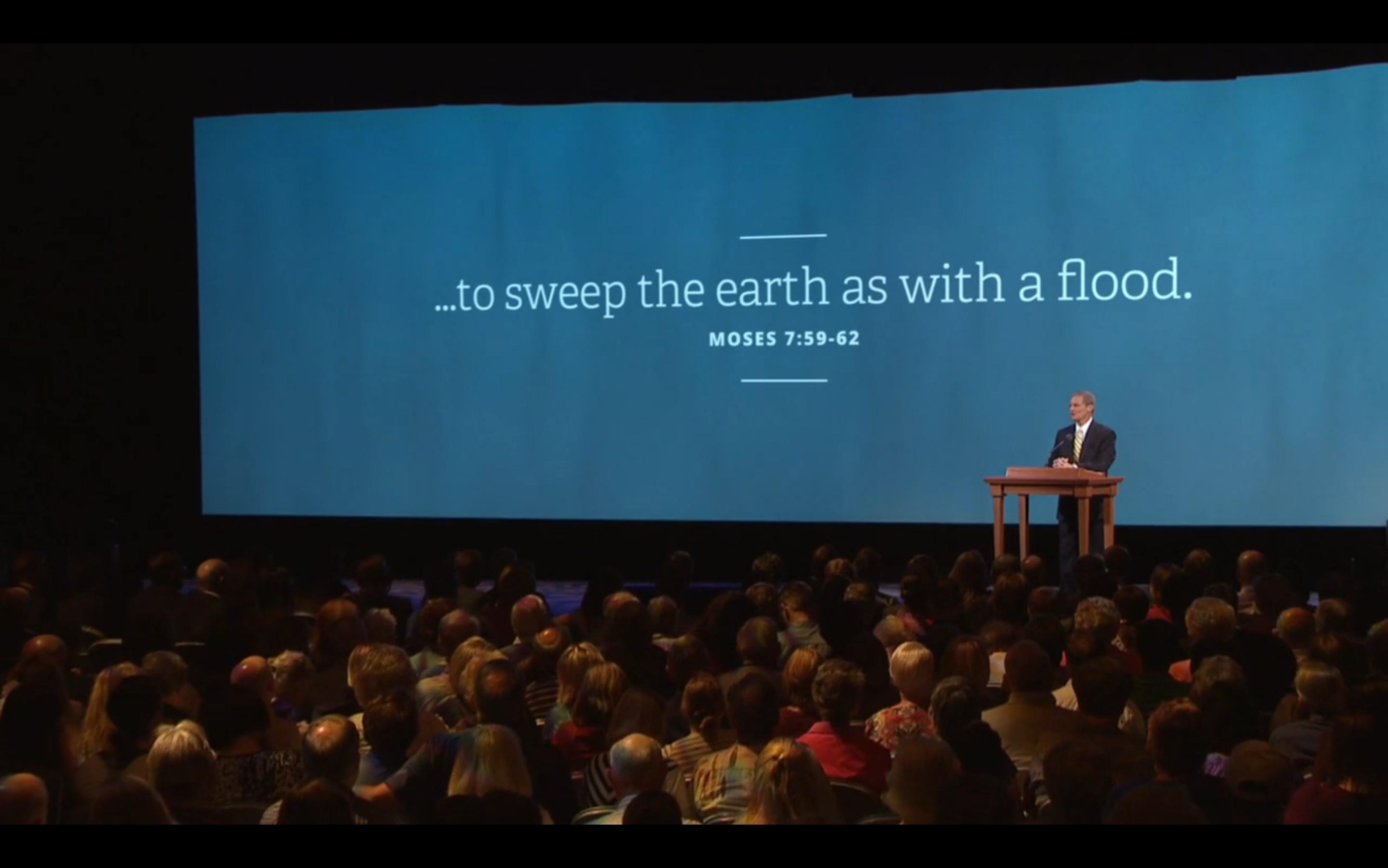 Reseña de la presentación Inundar la tierra como con un diluvio