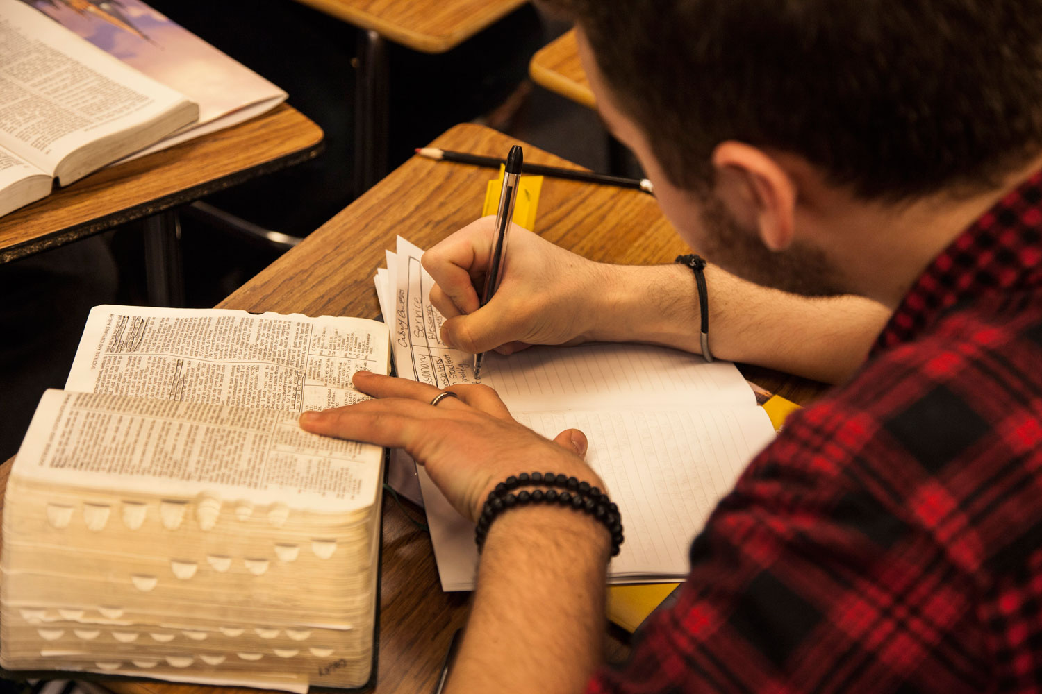 Man studying the scriptures