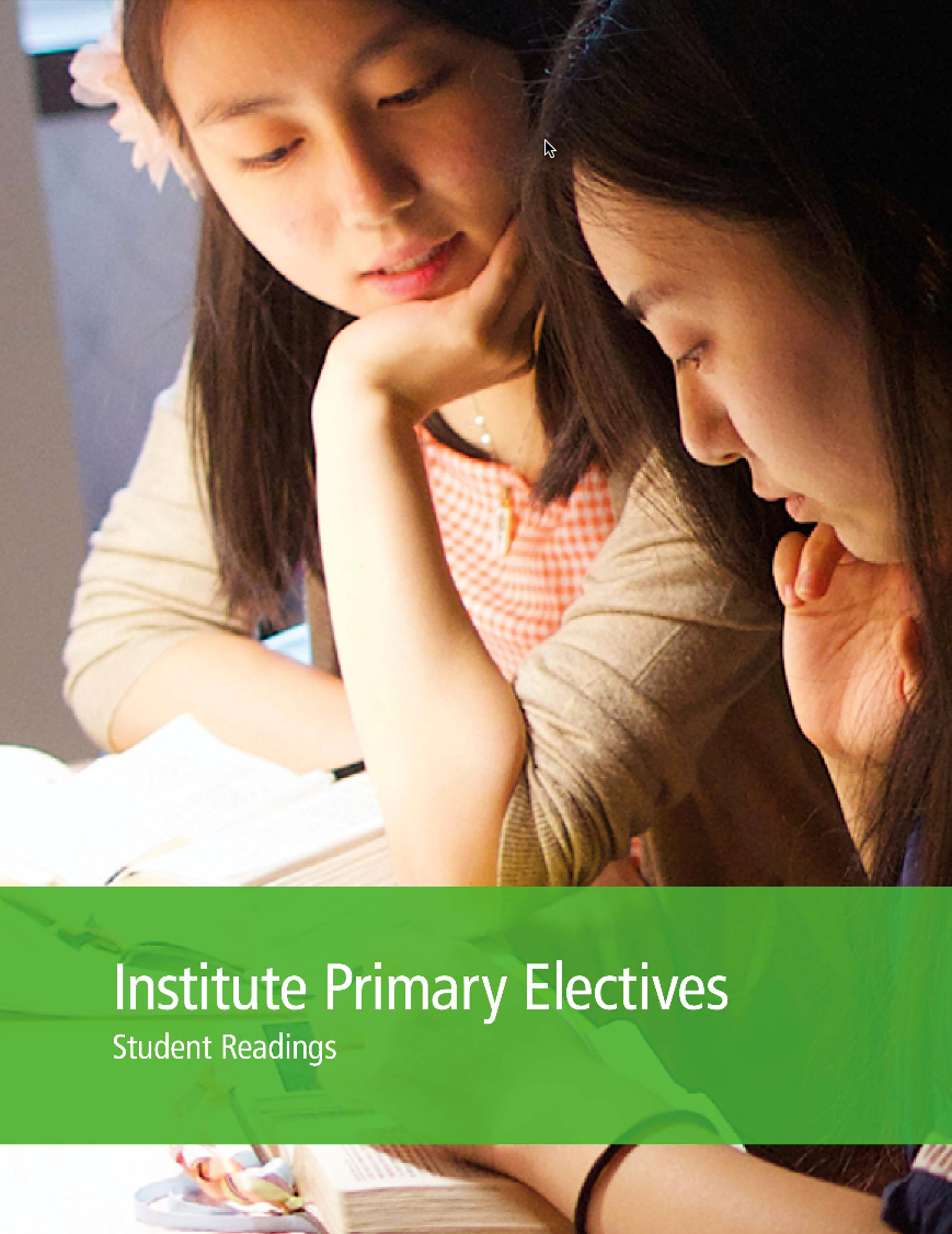 Institute Primary Electives Student Readings