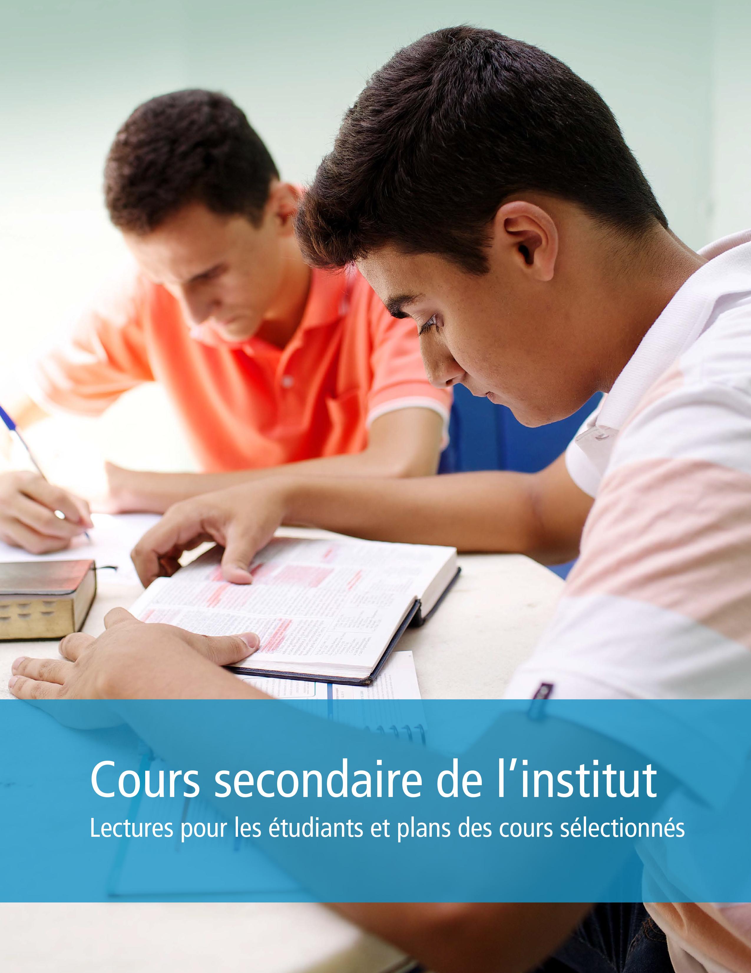Cours secondaires de l'institut: Lectures des étudiants