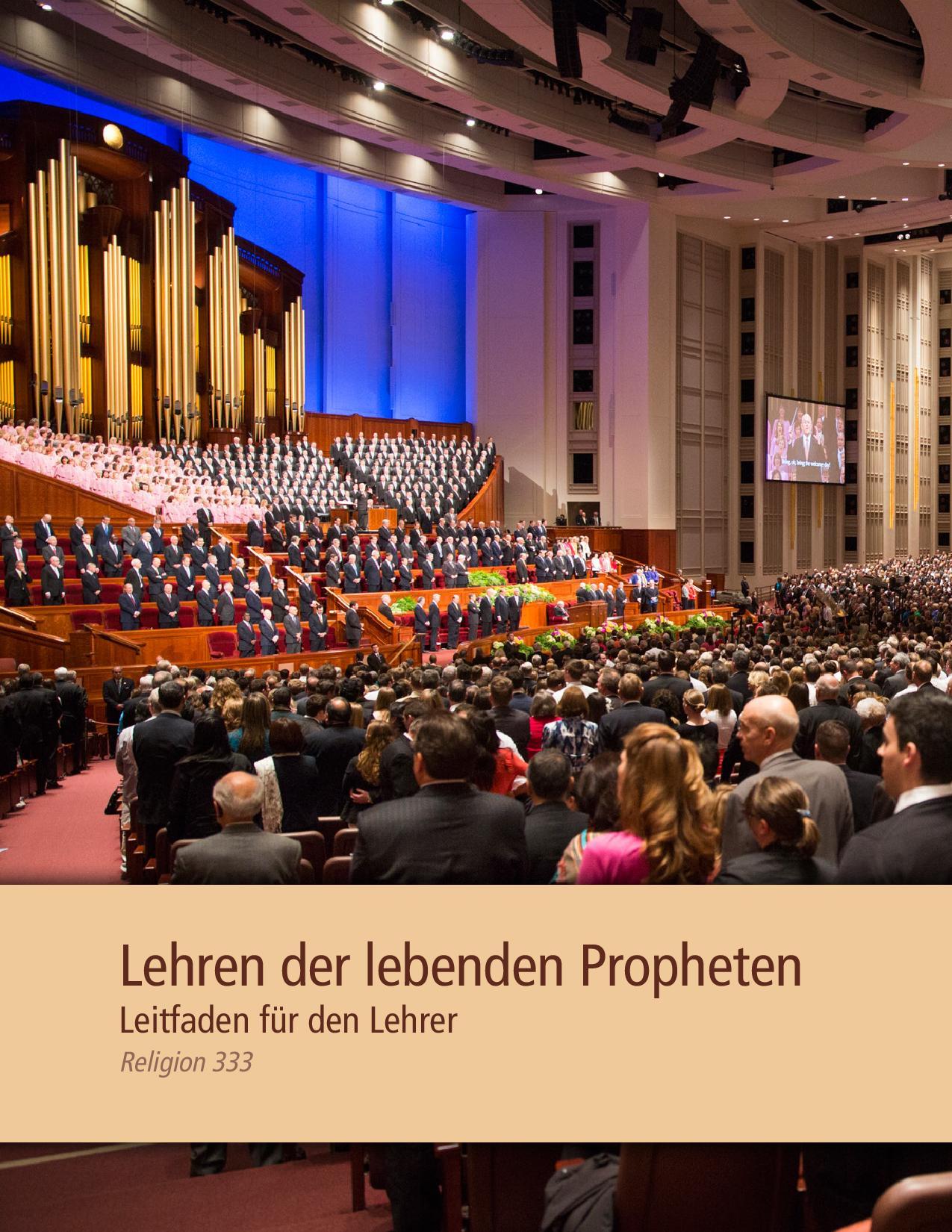 Lehren der lebenden Propheten – Leitfaden für den Lehrer