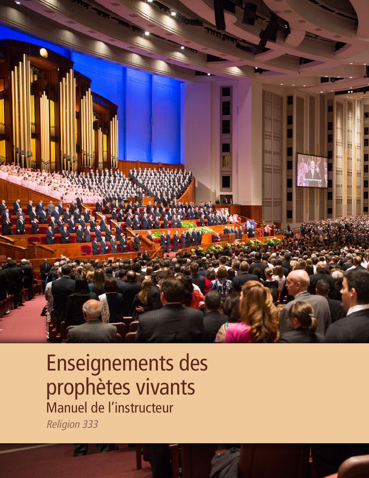 Enseignements des prophètes actuels, manuel de l'instructeur