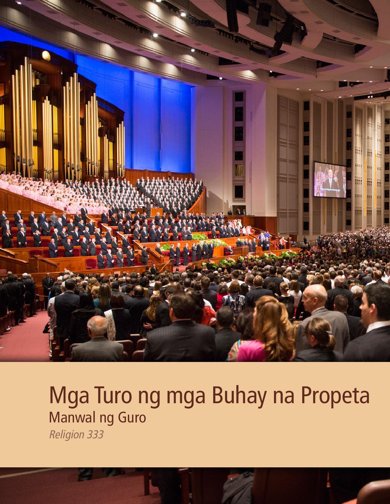 Mga Turo ng mga Buhay na Propeta Manwal ng Titser