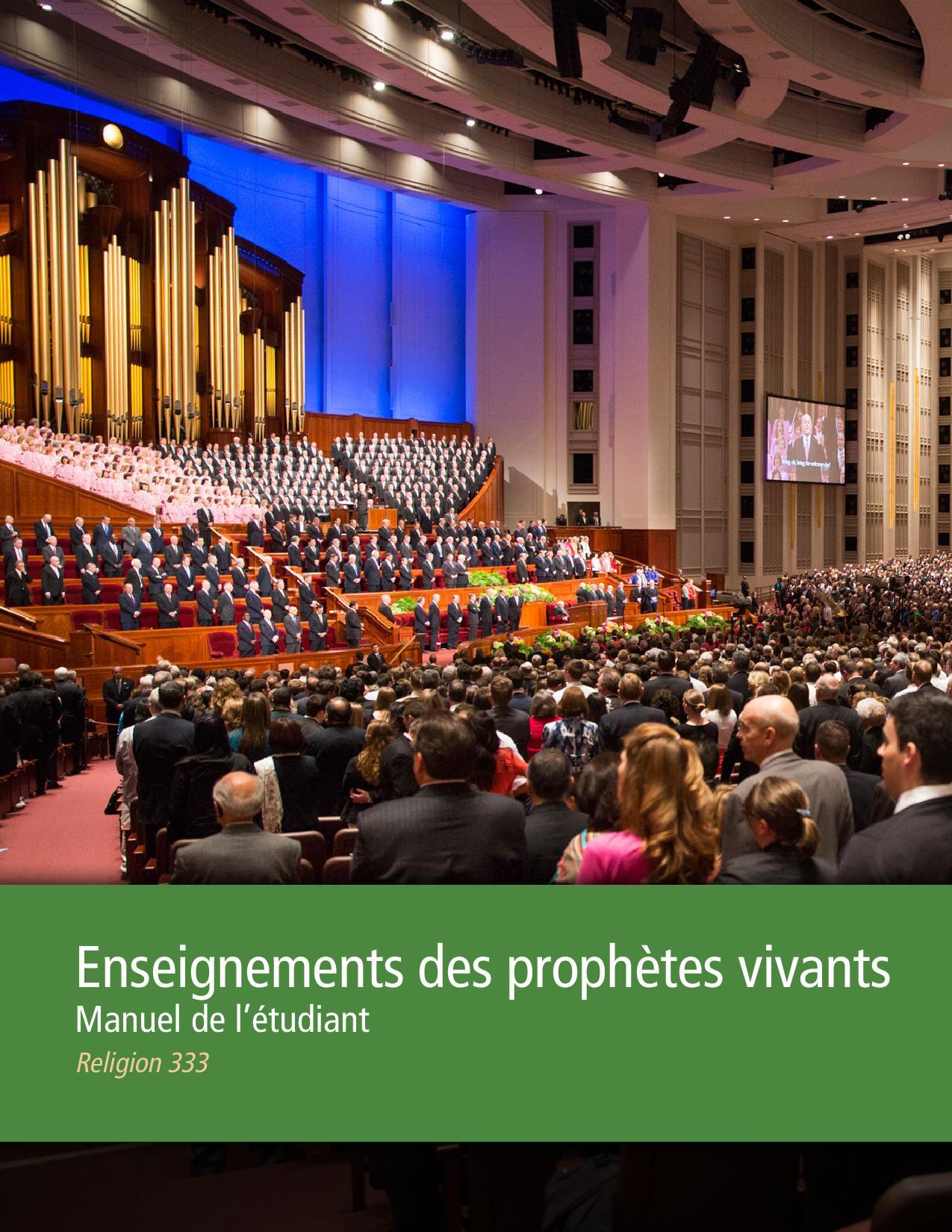 Enseignements des prophètes actuels, Manuel de l'étudiant