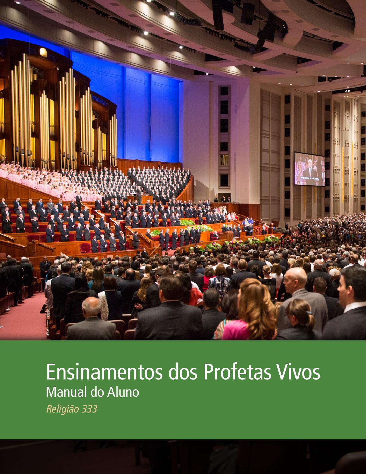 Ensinamentos dos Profetas Vivos — Manual do Aluno