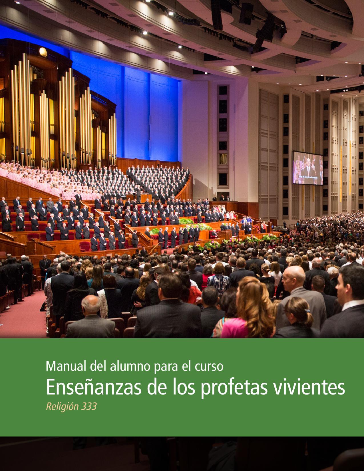Enseñanzas de los profetas vivientes: Manual del alumno