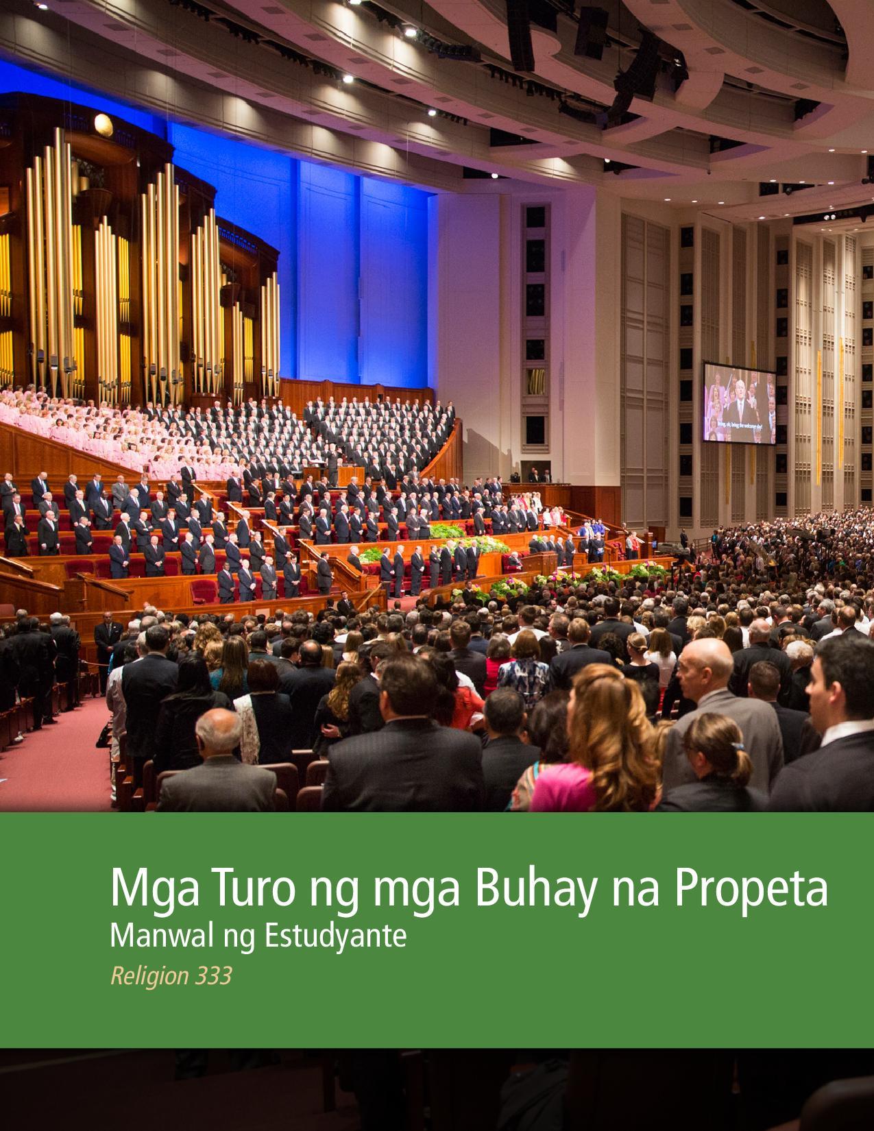 Mga Turo ng mga Buhay na Propeta Manwal ng Estudyante