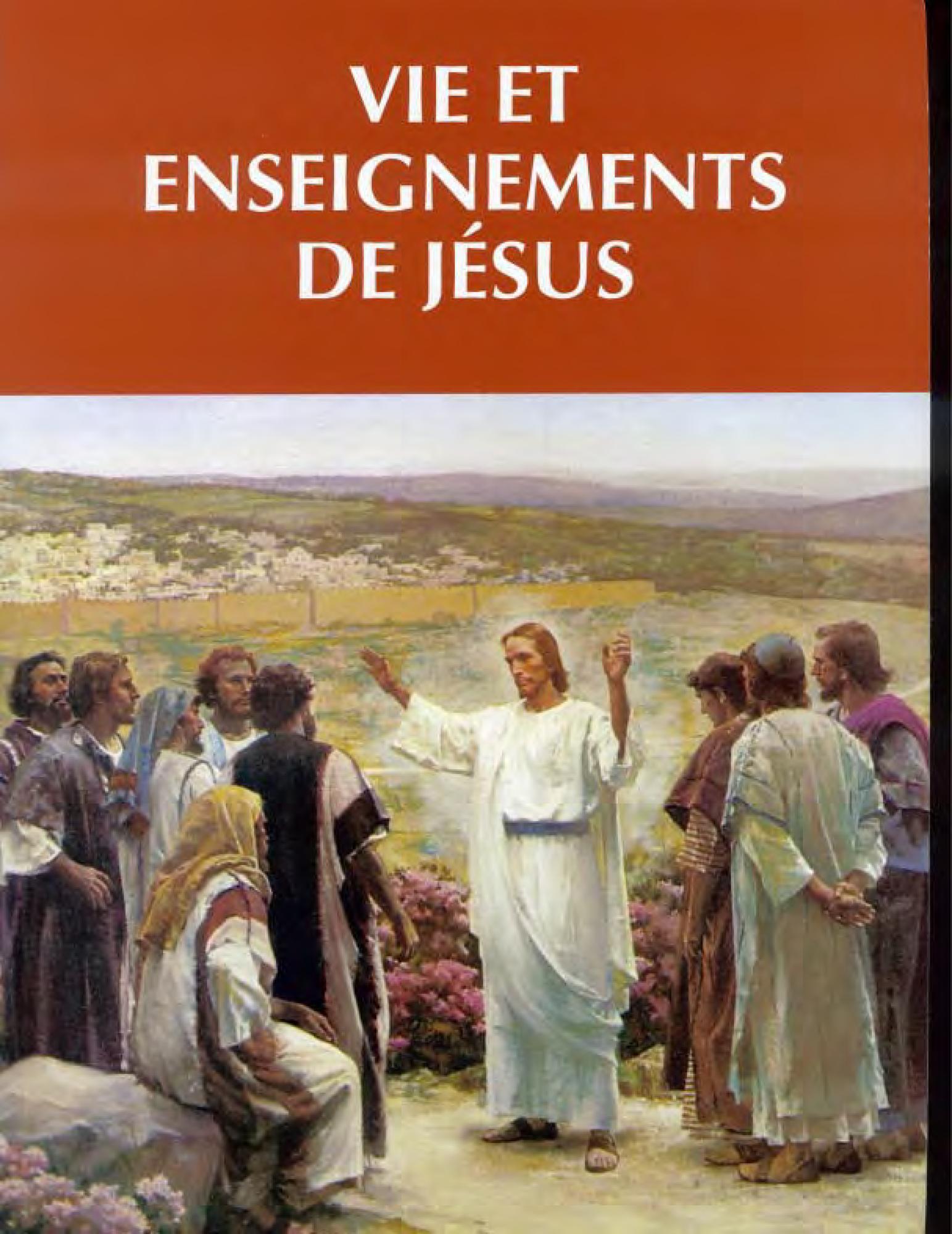 Vie et enseignements de Jésus et de ses apôtres, manuel de l'étudiant
