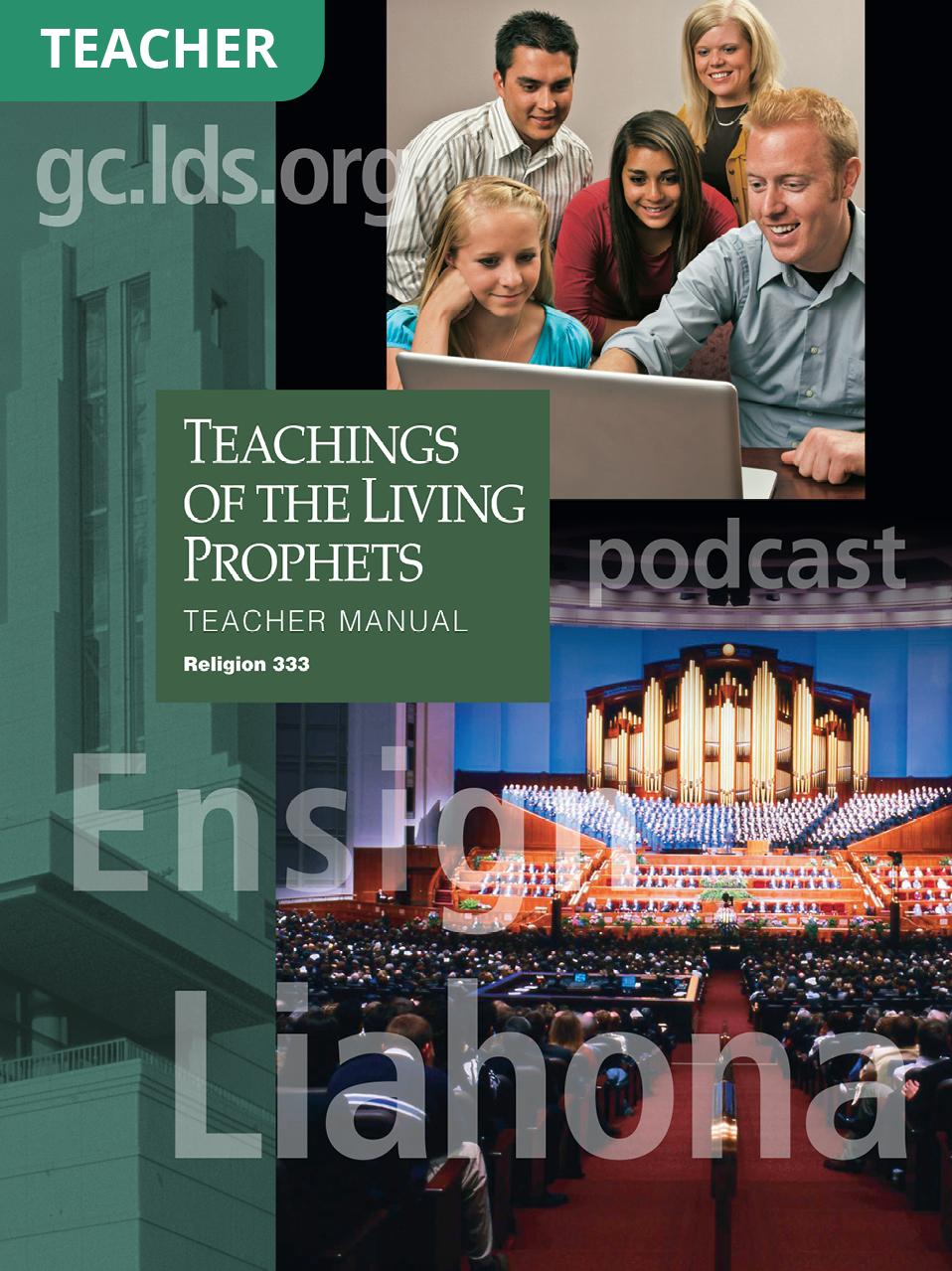 Teachings of the Living Prophets Teacher Manual (Rel 333)