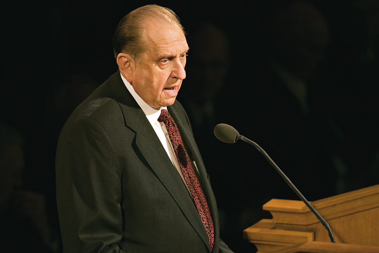 President Thomas S. Monson speaking