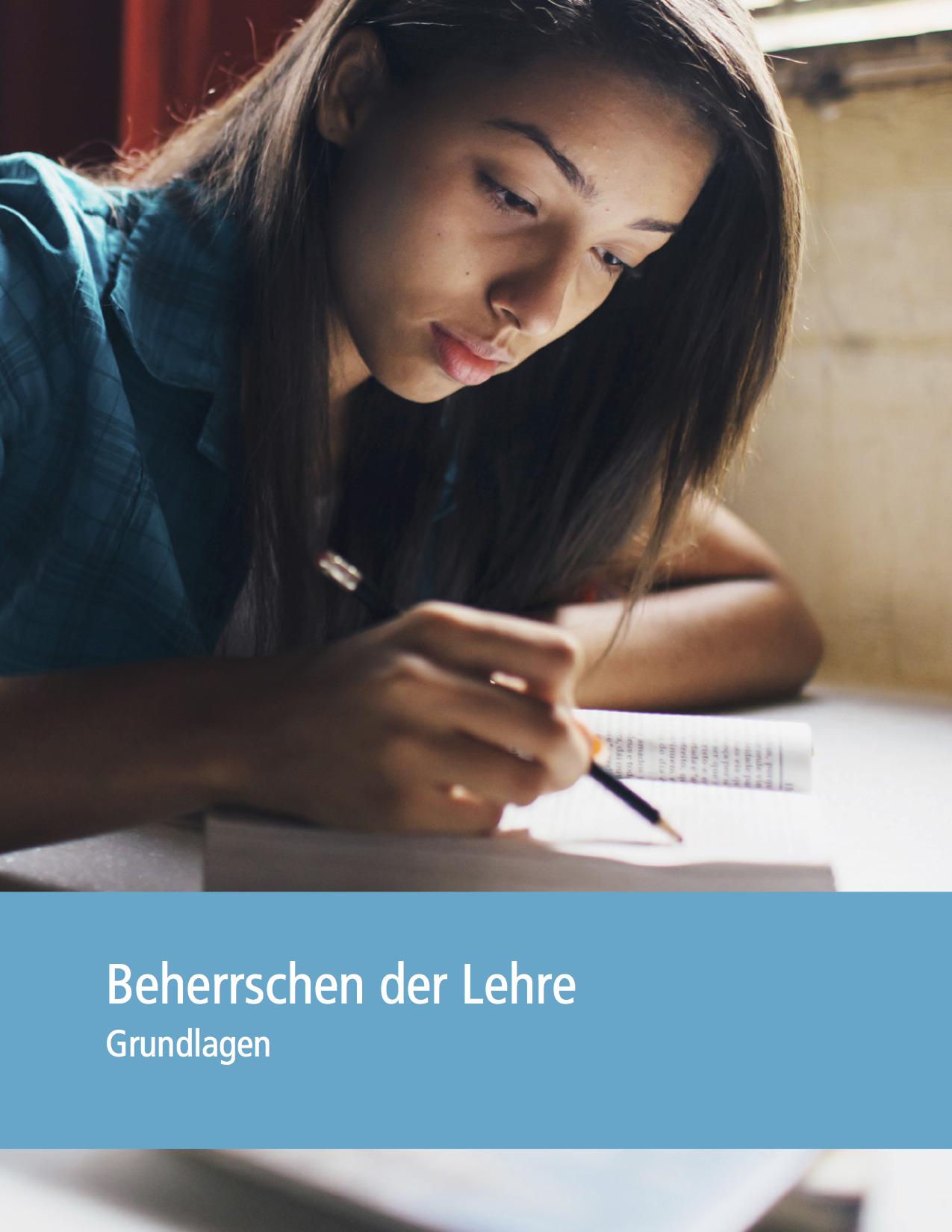 Beherrschen der Lehre– Grundlagen (Deckblatt)